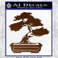Bonsai Tree Decal Sticker D2 Brown Vinyl 120x120
