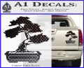 Bonsai Tree Decal Sticker D2 Carbon Fiber Black 120x97