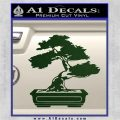 Bonsai Tree Decal Sticker D2 Dark Green Vinyl 120x120