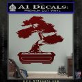 Bonsai Tree Decal Sticker D2 Dark Red Vinyl 120x120