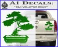 Bonsai Tree Decal Sticker D2 Green Vinyl 120x97