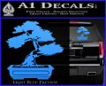 Bonsai Tree Decal Sticker D2 Light Blue Vinyl 120x97
