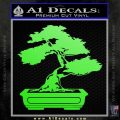 Bonsai Tree Decal Sticker D2 Lime Green Vinyl 120x120