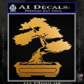Bonsai Tree Decal Sticker D2 Metallic Gold Vinyl 120x120