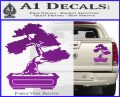 Bonsai Tree Decal Sticker D2 Purple Vinyl 120x97