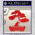 Bonsai Tree Decal Sticker D2 Red Vinyl 120x120
