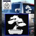 Bonsai Tree Decal Sticker D2 White Vinyl Emblem 120x120