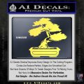 Bonsai Tree Decal Sticker D2 Yellow Vinyl 120x120