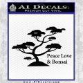 Bonsai Tree Decal Sticker Peace Love Black Vinyl Logo Emblem 120x120