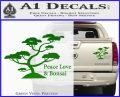 Bonsai Tree Decal Sticker Peace Love Green Vinyl 120x97