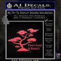 Bonsai Tree Decal Sticker Peace Love Pink Vinyl Emblem 120x120
