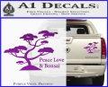 Bonsai Tree Decal Sticker Peace Love Purple Vinyl 120x97