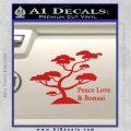 Bonsai Tree Decal Sticker Peace Love Red Vinyl 120x120
