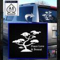 Bonsai Tree Decal Sticker Peace Love White Vinyl Emblem 120x120
