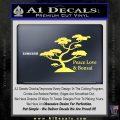 Bonsai Tree Decal Sticker Peace Love Yellow Vinyl 120x120