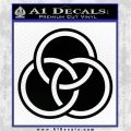 Borromean Rings Decal Sticker Trinity Celtic Black Vinyl Logo Emblem 120x120