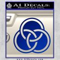 Borromean Rings Decal Sticker Trinity Celtic Blue Vinyl 120x120