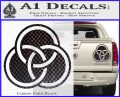 Borromean Rings Decal Sticker Trinity Celtic Carbon Fiber Black 120x97