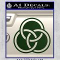 Borromean Rings Decal Sticker Trinity Celtic Dark Green Vinyl 120x120