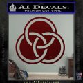 Borromean Rings Decal Sticker Trinity Celtic Dark Red Vinyl 120x120