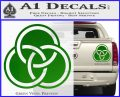 Borromean Rings Decal Sticker Trinity Celtic Green Vinyl 120x97