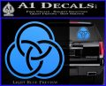 Borromean Rings Decal Sticker Trinity Celtic Light Blue Vinyl 120x97