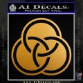 Borromean Rings Decal Sticker Trinity Celtic Metallic Gold Vinyl 120x120