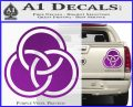Borromean Rings Decal Sticker Trinity Celtic Purple Vinyl 120x97