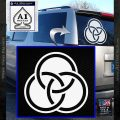 Borromean Rings Decal Sticker Trinity Celtic White Vinyl Emblem 120x120