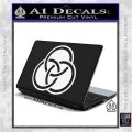 Borromean Rings Decal Sticker Trinity Celtic White Vinyl Laptop 120x120