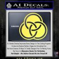 Borromean Rings Decal Sticker Trinity Celtic Yellow Vinyl 120x120