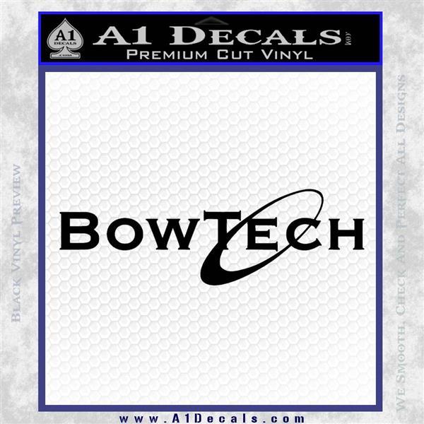 Bowtech Archery Decal Sticker New Black Vinyl Logo Emblem