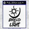 Bright Movie Decal Sticker Shield Of Light Tattoo Symbol D1 Black Vinyl Logo Emblem 120x120