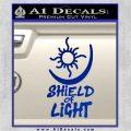 Bright Movie Decal Sticker Shield Of Light Tattoo Symbol D1 Blue Vinyl 120x120