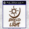 Bright Movie Decal Sticker Shield Of Light Tattoo Symbol D1 Brown Vinyl 120x120