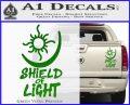 Bright Movie Decal Sticker Shield Of Light Tattoo Symbol D1 Green Vinyl 120x97