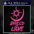 Bright Movie Decal Sticker Shield Of Light Tattoo Symbol D1 Hot Pink Vinyl 120x120
