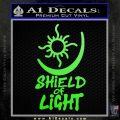 Bright Movie Decal Sticker Shield Of Light Tattoo Symbol D1 Lime Green Vinyl 120x120
