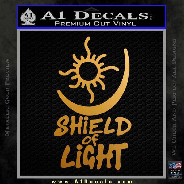 Bright Movie Decal Sticker Shield Of Light Tattoo Symbol D1 Metallic Gold Vinyl