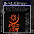 Bright Movie Decal Sticker Shield Of Light Tattoo Symbol D1 Orange Vinyl Emblem 120x120