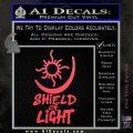 Bright Movie Decal Sticker Shield Of Light Tattoo Symbol D1 Pink Vinyl Emblem 120x120