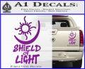 Bright Movie Decal Sticker Shield Of Light Tattoo Symbol D1 Purple Vinyl 120x97
