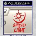 Bright Movie Decal Sticker Shield Of Light Tattoo Symbol D1 Red Vinyl 120x120