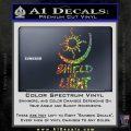 Bright Movie Decal Sticker Shield Of Light Tattoo Symbol D1 Sparkle Glitter Vinyl Sparkle Glitter 120x120
