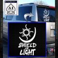 Bright Movie Decal Sticker Shield Of Light Tattoo Symbol D1 White Vinyl Emblem 120x120