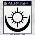 Bright Movie Decal Sticker Shield Of Light Tattoo Symbol D2 Black Vinyl Logo Emblem 120x120