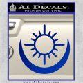 Bright Movie Decal Sticker Shield Of Light Tattoo Symbol D2 Blue Vinyl 120x120