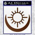 Bright Movie Decal Sticker Shield Of Light Tattoo Symbol D2 Brown Vinyl 120x120