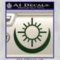 Bright Movie Decal Sticker Shield Of Light Tattoo Symbol D2 Dark Green Vinyl 120x120