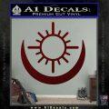 Bright Movie Decal Sticker Shield Of Light Tattoo Symbol D2 Dark Red Vinyl 120x120